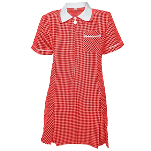 Primary School Red Summer Dress